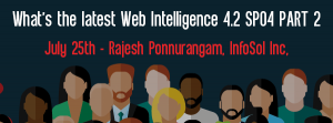 Let's Speak BO Webinar What's the latest Web Intelligence 4.2 SP04 PART 2 July 25 2017