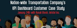 Upcoming Let's Speak BO Webinar Nation-wide Transportation Company's KPI Dashboard Customer Case Study January 24 2016