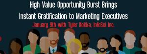 Let's Speak BO Webinar High Value Opportunity Burst Brings Instant Gratification to Marketing Executives January 9 2018