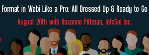 Let's Speak BO Webinar August 20 2019 Format in Webi Like a Pro: All Dressed Up & Ready to Go