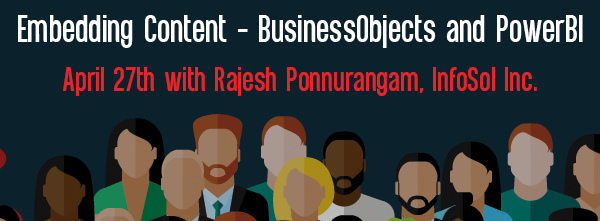 Let's Speak BO Embedding Content – BusinessObjects and PowerBI April 27 2021