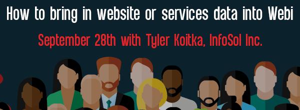Let's Speak BO Webinar How to bring in Web site or services data into Webi September 28 2021
