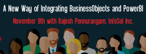 Let's Speak BO Webinar A new way of Integrating BusinessObjects and PowerBI November 9 2021